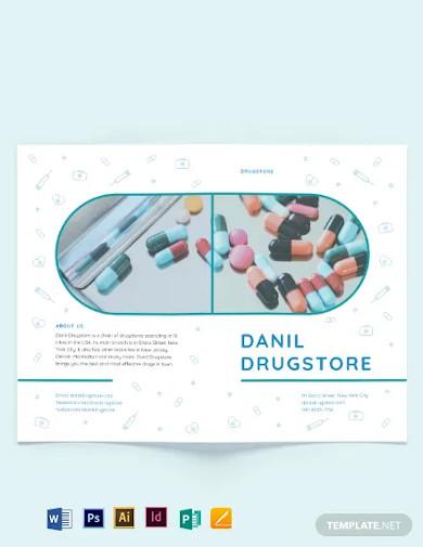drug bi fold brochure template