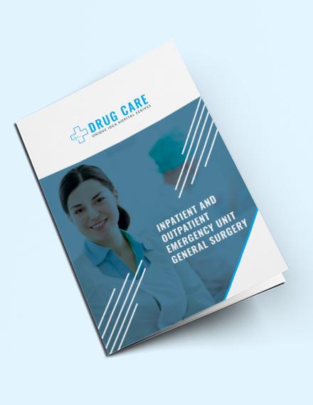 drug care advertising bifold brochure