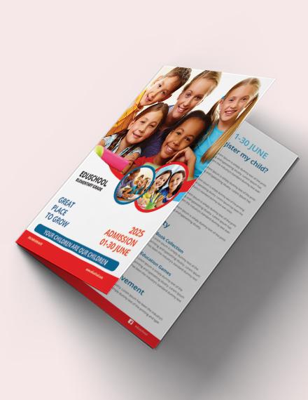 education advertisement bifold brochure template