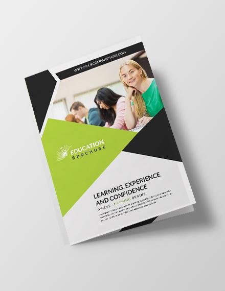 education brochure template in illustrator
