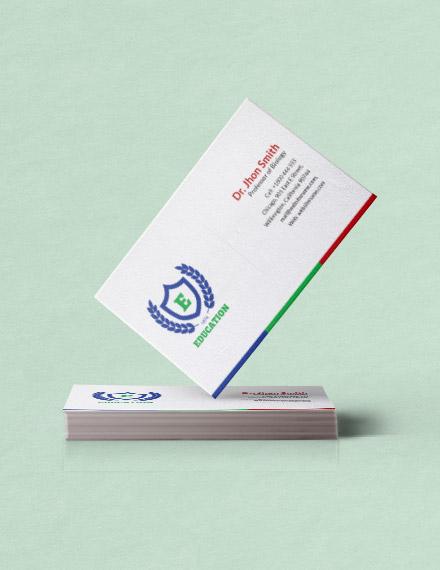education business card psd template