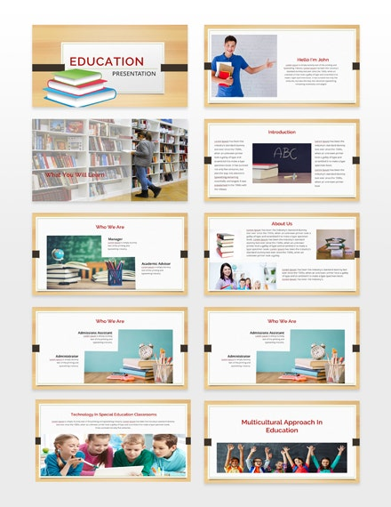 Education Presentation Template Sample