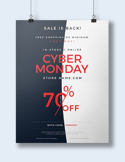elegant cyber monday poster template