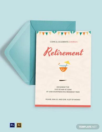 elegant retirement party invitation template1