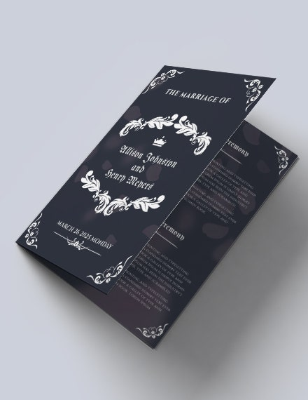 elegant wedding bifold brochure template