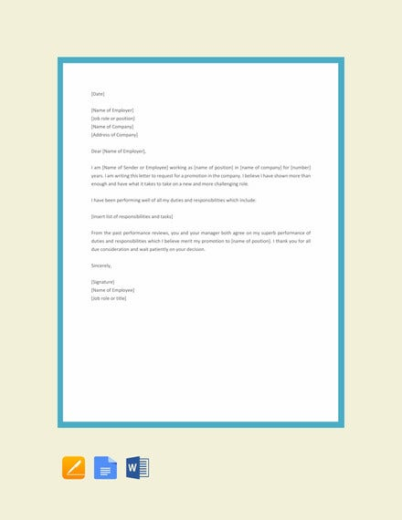 employee promotion letter template