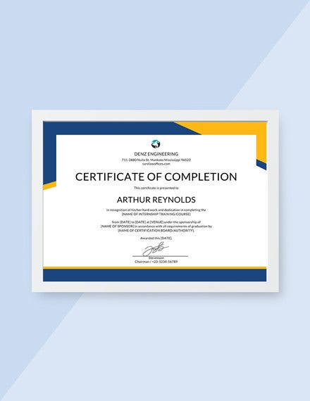engineering internship certificate template