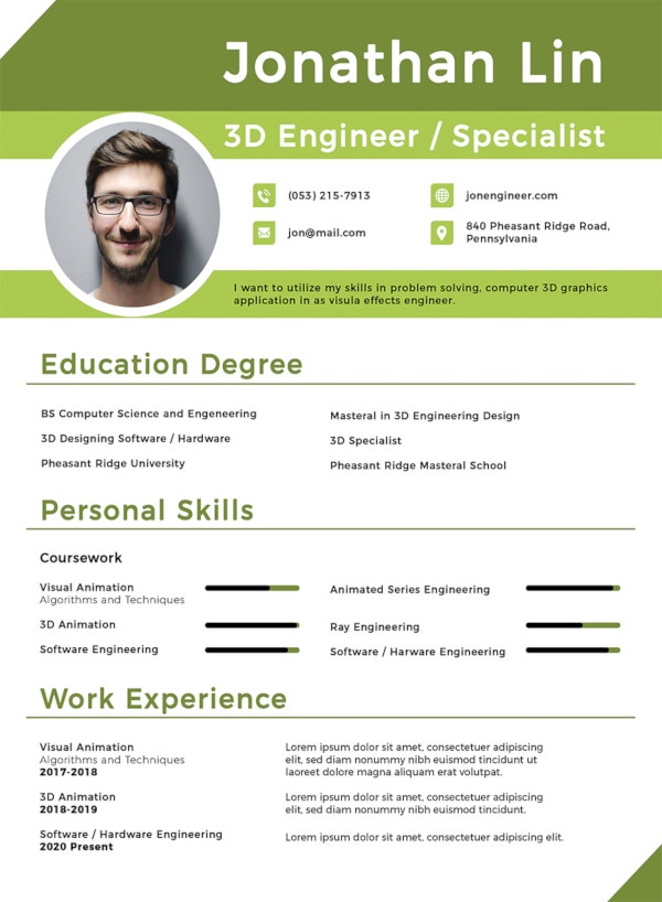 engineering student fresher resume template1