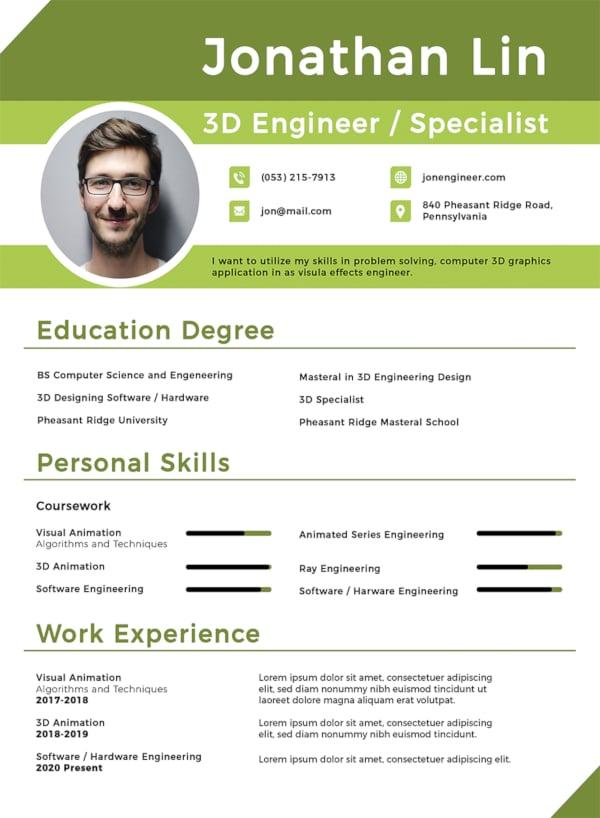 engineering student fresher resume template1