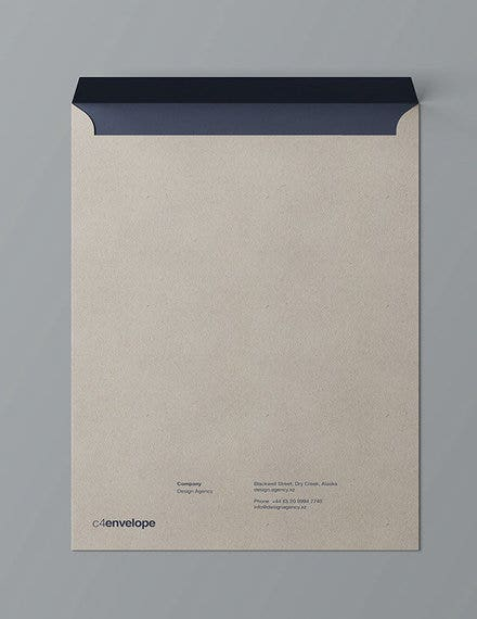 envelope design mockup sample