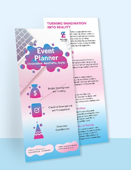 event planner dl card template in illustrator