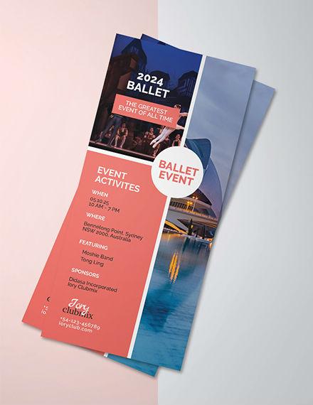 event rack card psd template