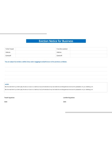 eviction notice business template