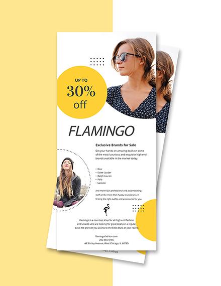 fashion boutique rack card psd template
