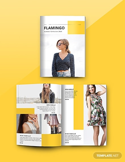 fashion catalog template in psd