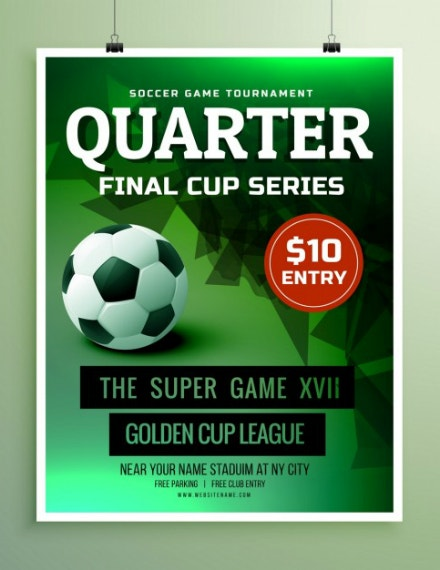 Final Cup Sports Invitation Template