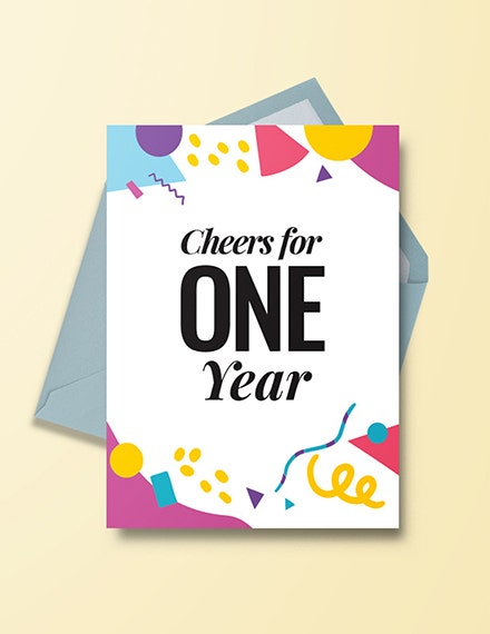 first year anniversary invitation example