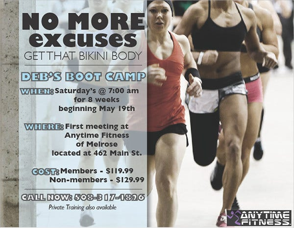 fitness bootcamp flyer