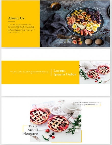 food presentation template sample