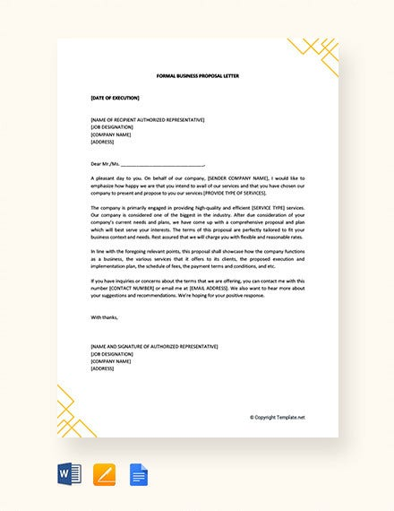 formal business proposal letter1