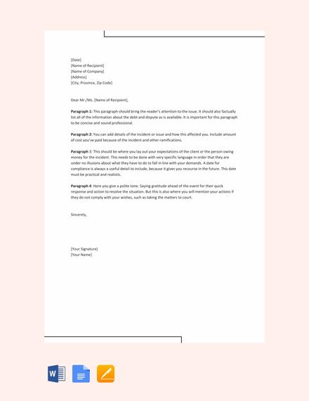 formal demand letter