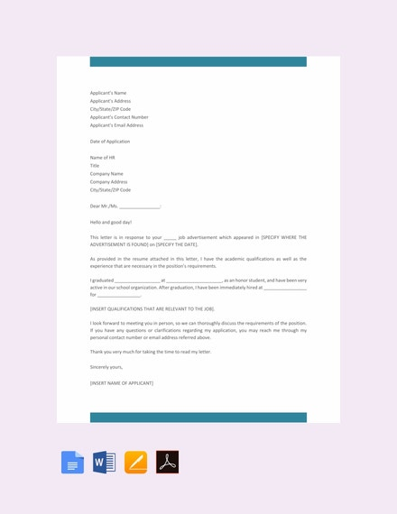 29 Job Application Letter Examples Pdf Doc Free Premium Templates