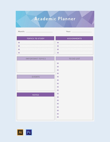free academic planner template 440x570 1