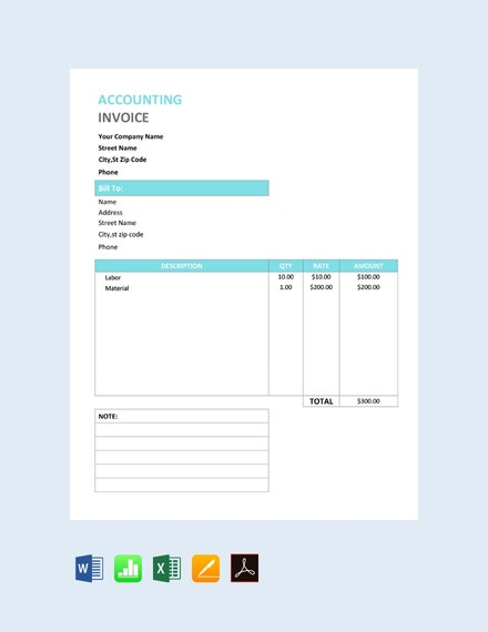 free accounting service invoice template 440x570 1