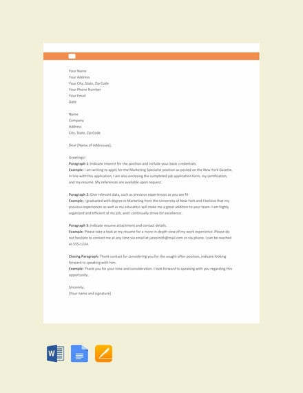 free application letter format1