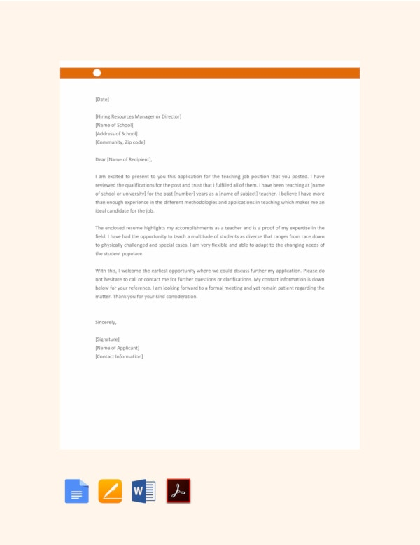 45 Job Application Letters In Pdf Free Premium Templates