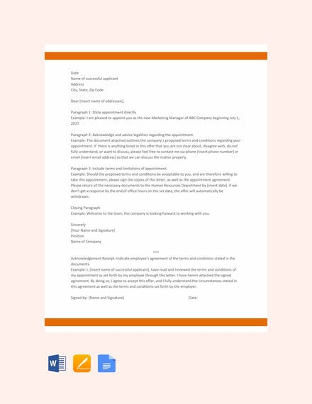 10 Meeting Appointment Letter Templates Pdf Doc Free Premium