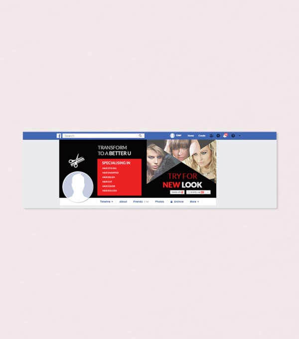 free barbershop facebook cover page template
