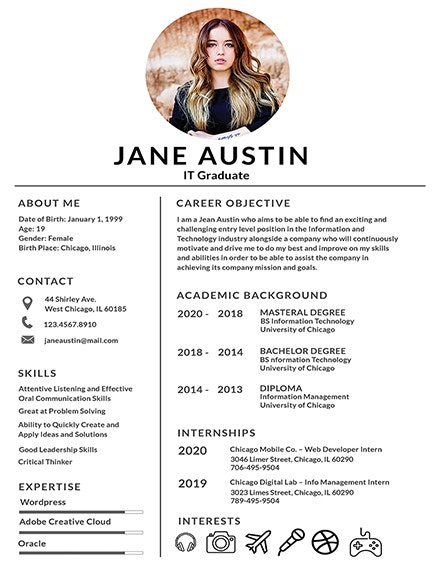free basic fresher resume template1
