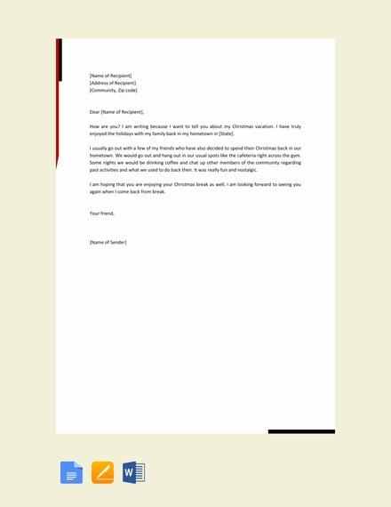free basic friendly letter