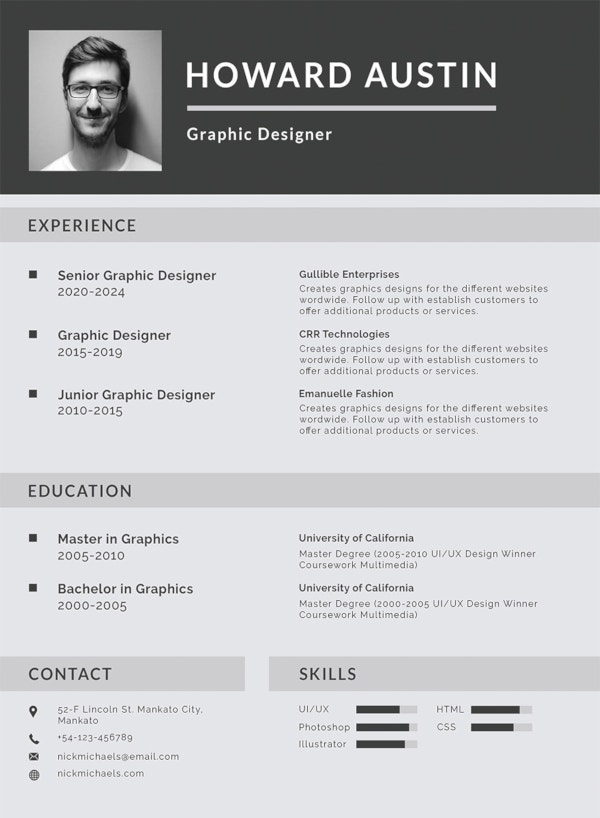 Sample Resume Templates Good Resume Format Latest Cv Resume Sample ...
