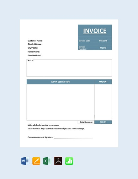 free basic service invoice template 440x570 1