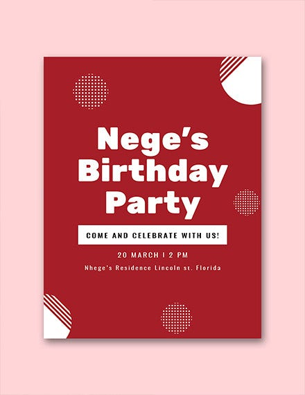 free birthday program template