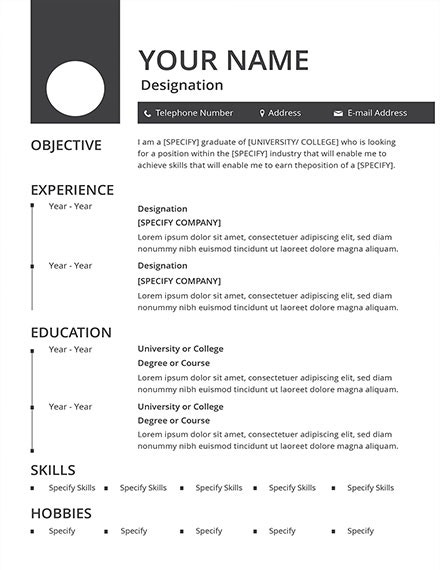 free blank resume template1