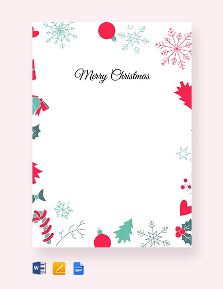 free christmas border letter template