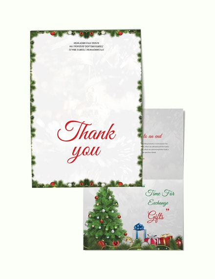 free christmas invitation thank you card template