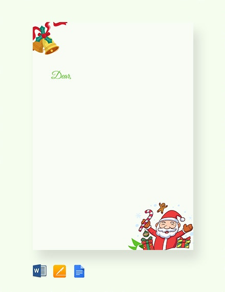 13 Christmas Letter Templates Word Apple Pages Google