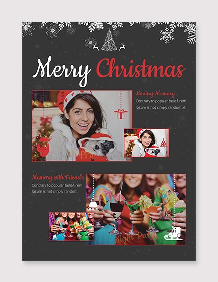 free christmas photo card templat