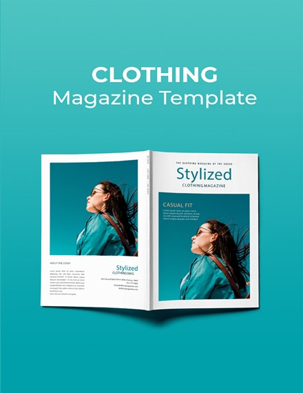 free clothing magazine template 1x