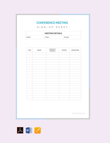 free conference sign up sheet template 440x570 1