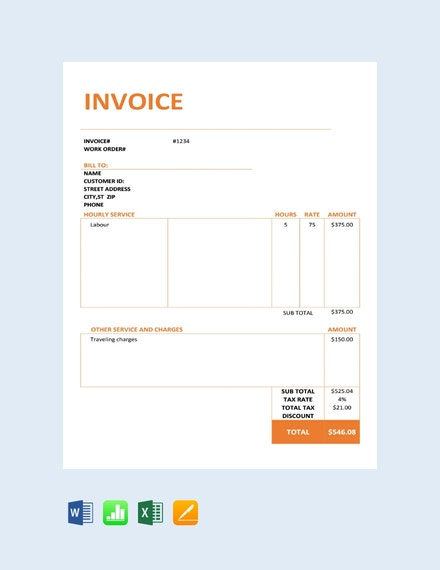 free consultancy service invoice template 440x570 1