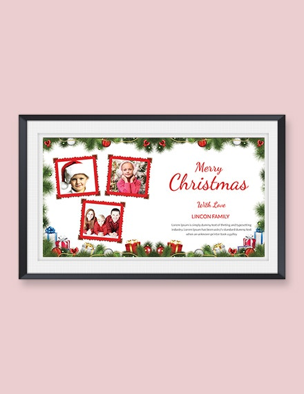 free creative christmas photo card template1