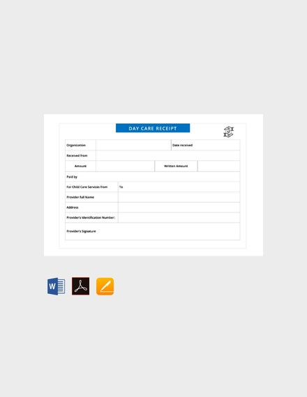 free daycare receipt template