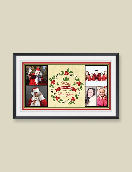 free elegant christmas photo card template