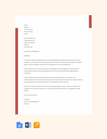 19+ Formal Complaint Letter Templates - PDF, DOC | Free