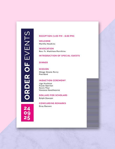 free event program